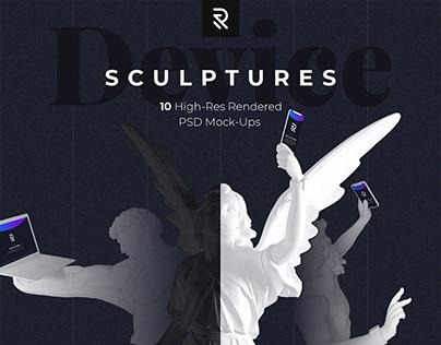 Device Antique Sculptures Mock-up