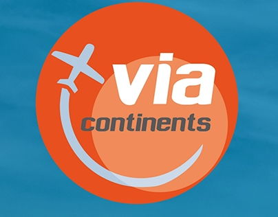 Logo design for travel agencie ViaContinents.pl