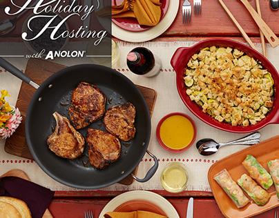 Anolon and Kendall Jackson seasonally themed campaigns