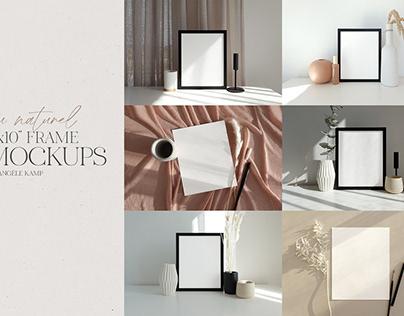 "8x10"" frames & art print mockups"