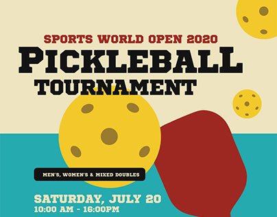 Pickleball Tournament Flyer Templates