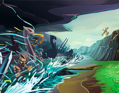 illustrations for a promo-video. Game «Dragon Esle»