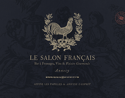 Le Salon Français - Branding cheese bar
