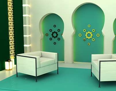 Arabic style TV set