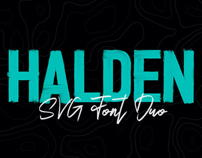 HALDEN - FREE HAND DRAWN SVG & OTF FONT DUO