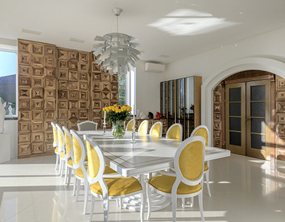 Italy Classic wall panels in dining room
