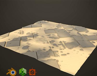 Substance designer sandy tiles project