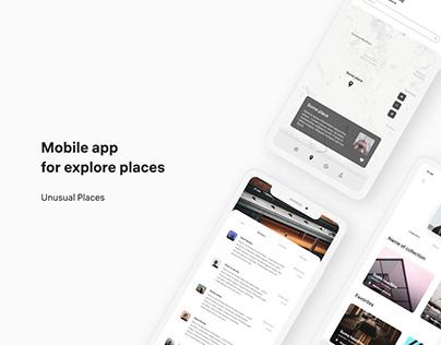Unusual Places — Mobile app