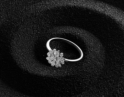 Jewelry Photography – Diamond Ring on Volcanic Sand