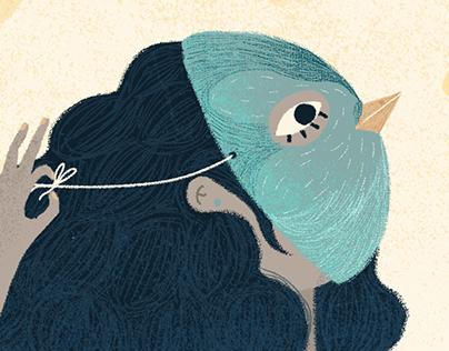 Mujer pájaro