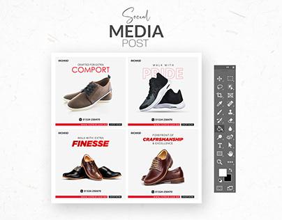 Shoes Social Media Post Design Bundle for Richkid
