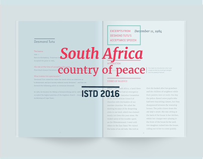 ISTD 2016 | South African Nobel Peace Prize Laureates