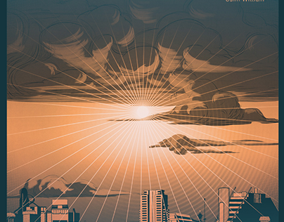 """""""AFTER THE RAIN"""" Guim William. LP cover design."""