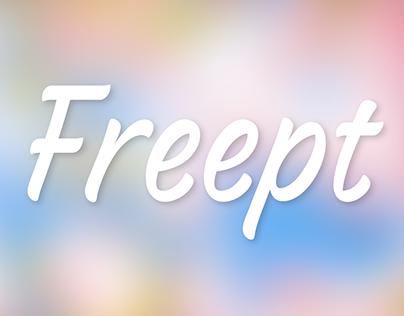Freept — free font