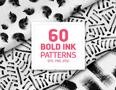 Hand Drawn Bold Ink Patterns By:PicByKate