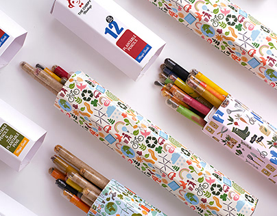 Packaging Design for up-cycled pencil