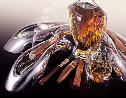 Ashtray One with Aegis Luxury Glassware