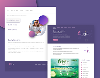 ElviaCare Website UI