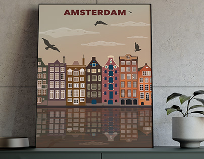 Illustrative City Poster