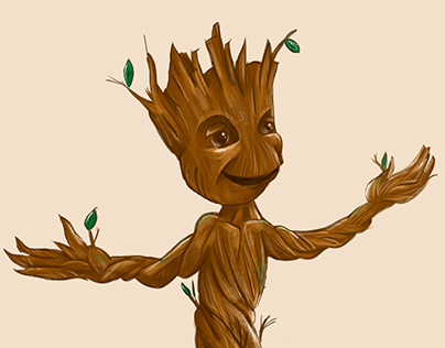 Lil Groot - Giclee print project