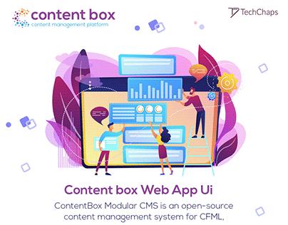 Content Box Web App UI