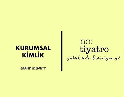 No:Tiyatro - Kurumsal Kimlik / Brand Identity