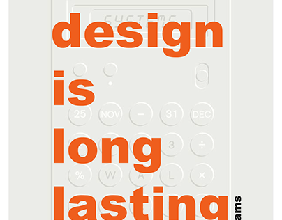 Calculator poster inspired by Dieter Rams
