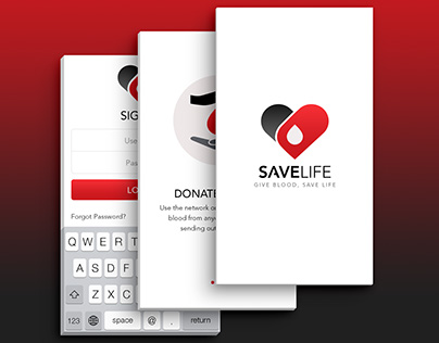 Mobile UI - Save Life (Blood Donation App)