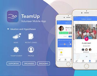 TeamUp - A mobile app for volunteer & team leader