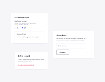 Day 1200・Account Settings UI Components