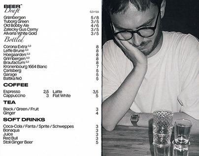 Bar menu for Хулиган