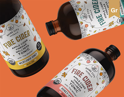 Rebranding for ACV tonic company