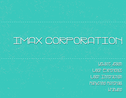 IMAX UX/UI Tablet / Screen Experience & Website