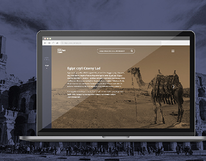 UI design / website about history of archeology