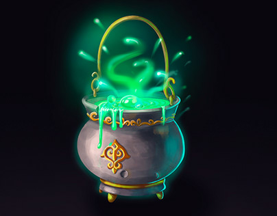 Witch kettle. Level up icons