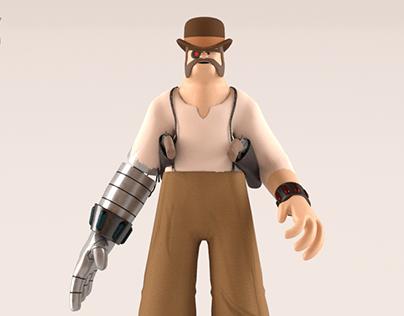 Bionic Cowboy Character
