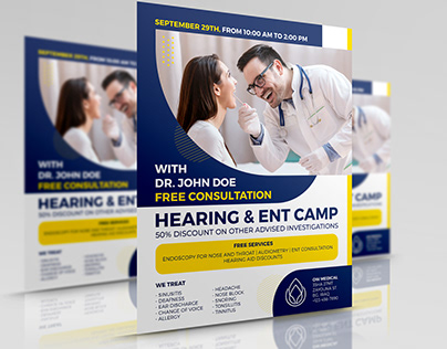 Hearing & ENT Medical Camp Flyer Template
