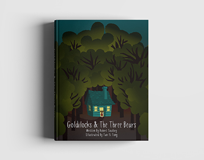 Book Cover Design: Goldilocks & The Three Bears