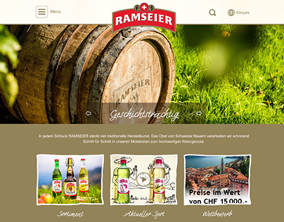 Redesign ramseier.ch