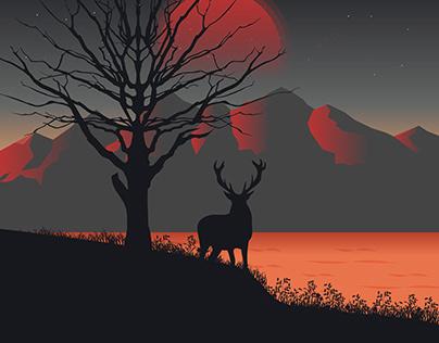 Illustration | Lone Deer