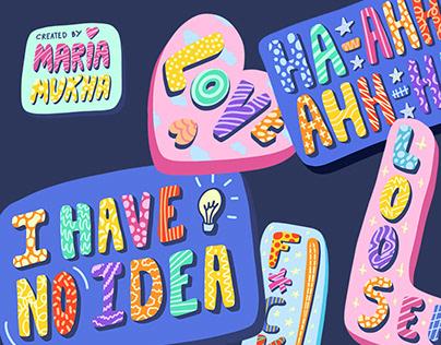 Hand-drawn Sticker Set