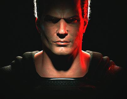 Black Superman - CG Henry Cavill