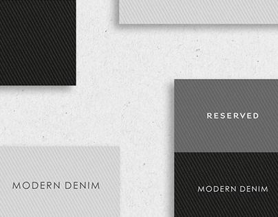 Modern Denim Branding Concept for RESERVED | Pt. 2