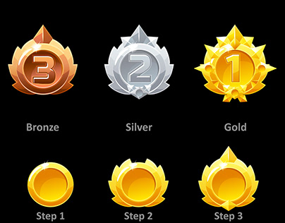 Awards medals for GUI game