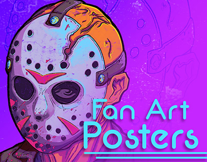 Fan Art Posters 80's Style