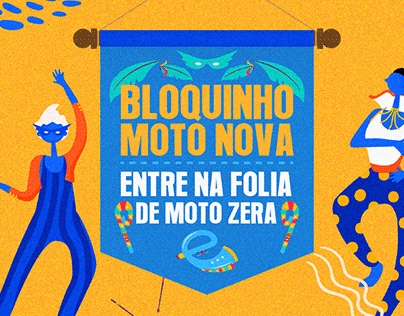 Campanha de Carnaval Moto Nova Honda