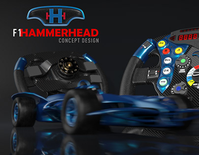 F1 Hammerhead Concept Design with Steering Wheel