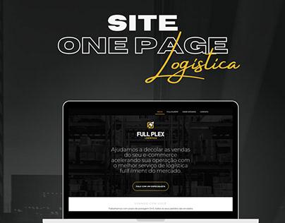 Site One Page - Empresa de Logística