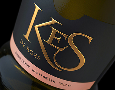 KES. Sparkling wine. Label design.