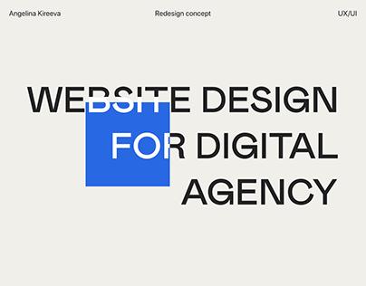 We make agency website redesign concept